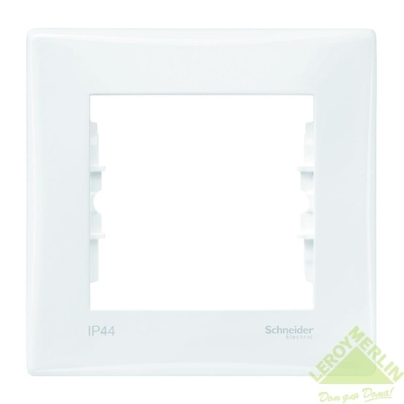 Рамка для розеток и выключателей Sedna, 1 пост, цвет белый