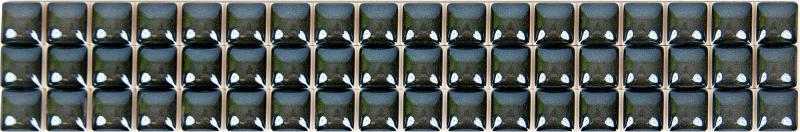 Бордюр «Разрезной люстрированный» 13х250 мм цвет черный