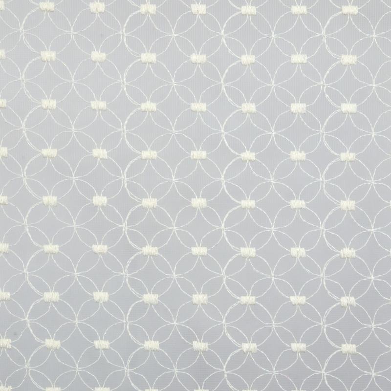Тюль с вышивкой на сетке «Геометрия» 1 п/м 290 см цвет кремовый
