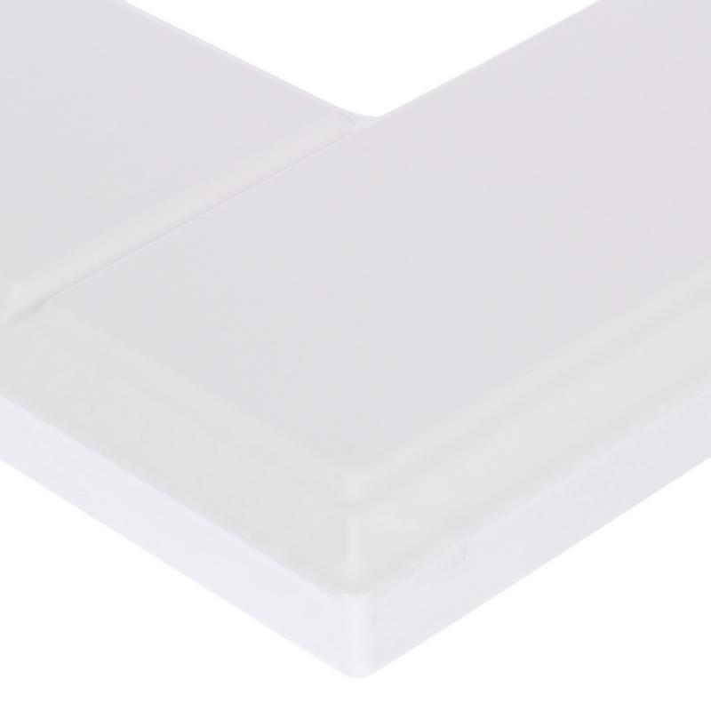 Витрина для шкафа Delinia «Леда белая» 40x92 см, МДФ, цвет белый