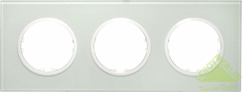 Рамка LK Vintage 3 поста квадратная из натурального светлого стекла