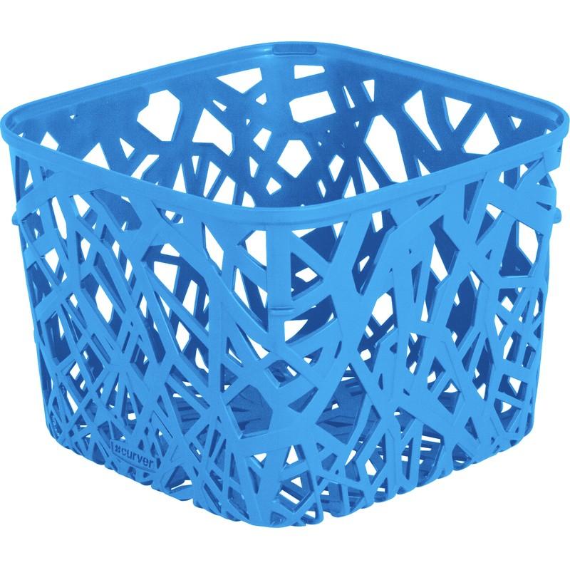 Корзинка квадратная Curver Neo голубая