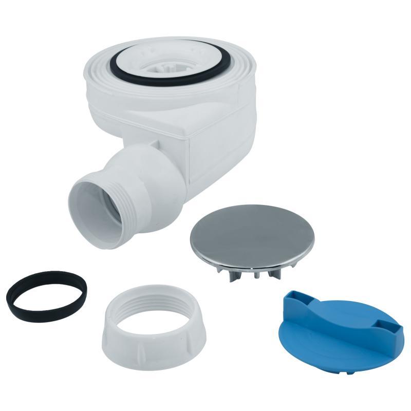Сифон для душевого поддона с декоративной крышкой слив d 40 мм пластик
