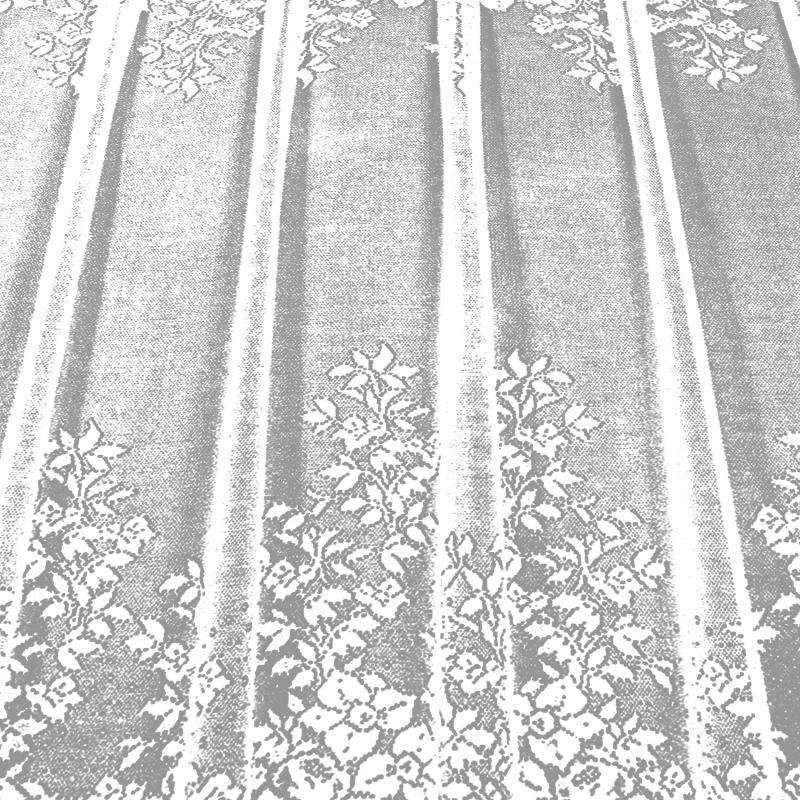 Занавеска на ленте «Хоровод», 265х165 см, жаккард, цвет белый