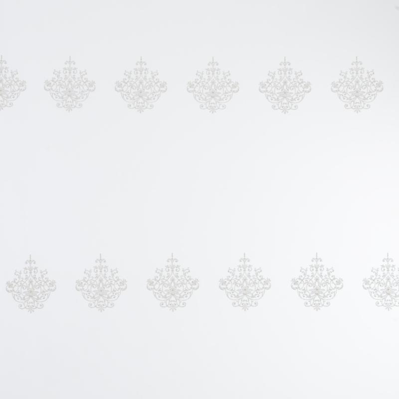 Тюль с вышивкой на сетке «Короны» 1 п/м 290 см цвет кремовый