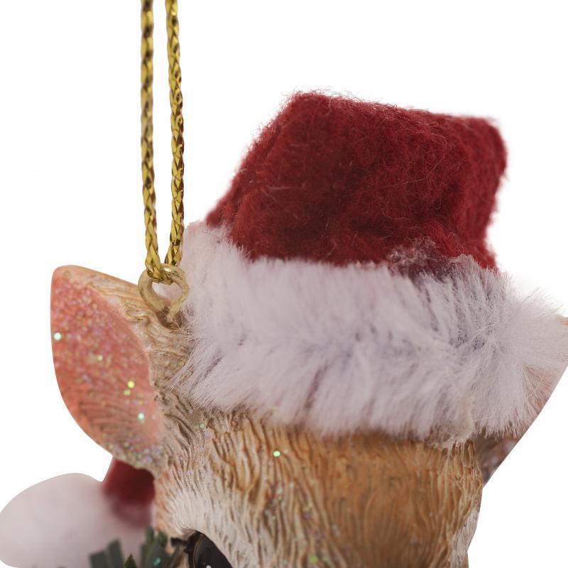 Украшение ёлочное «Оленёнок в шапочке», 8 см