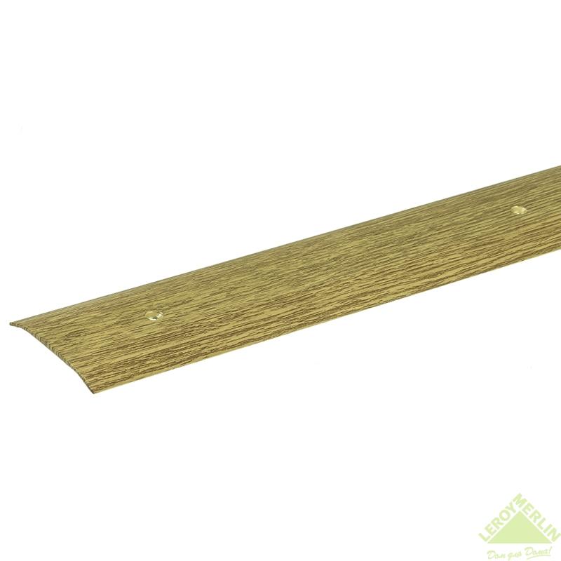 Порог алюминиевый Стык-348 дуб, 1000x60 мм
