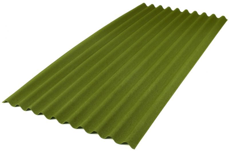 Лист Ондулин 6x950x2000 мм, цвет зелёный