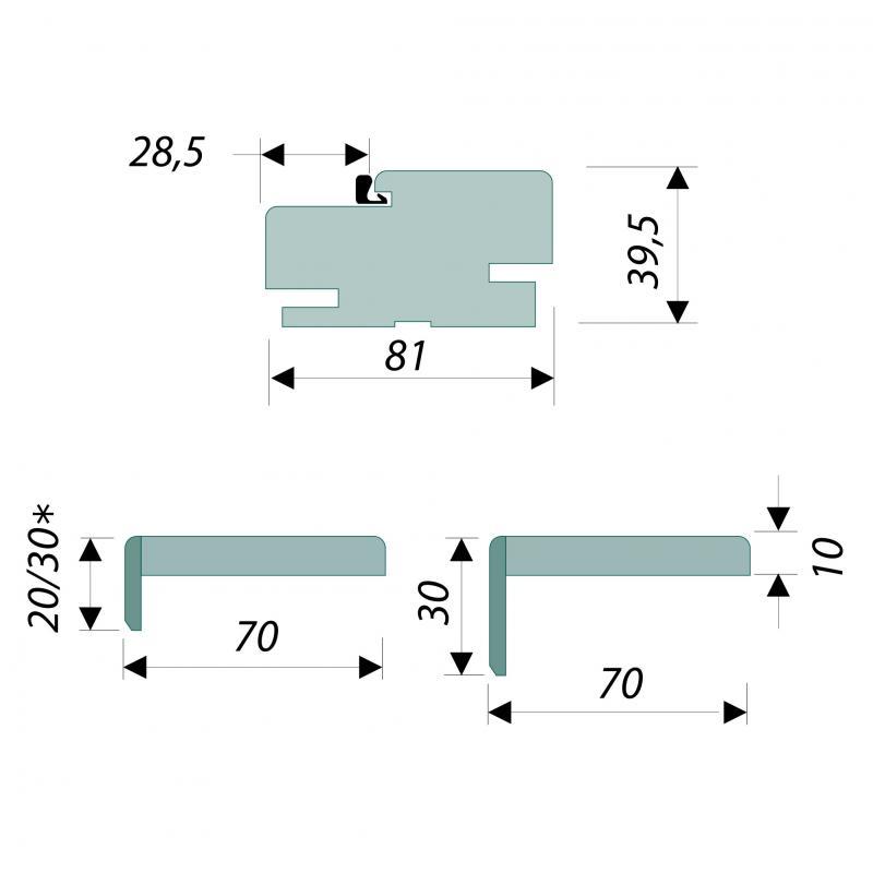 Комплект монтажный (коробка, наличник) Танганика CPL для 600/800
