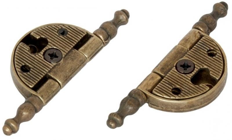 Петля карточная универсальная 73х10 мм, AB, 2 шт.