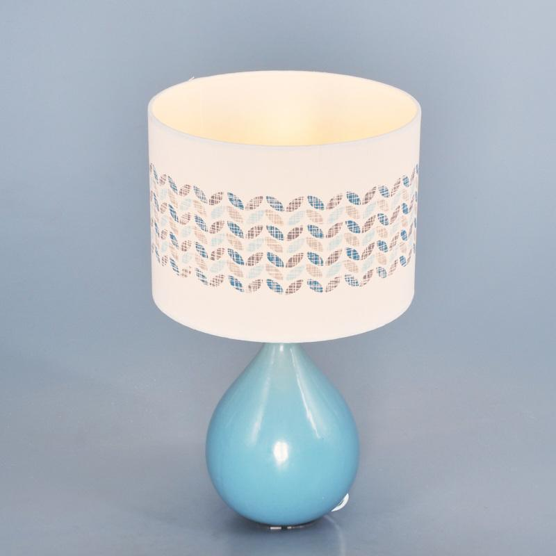 Настольная лампа L1130P Blue 1хЕ14х40 Вт