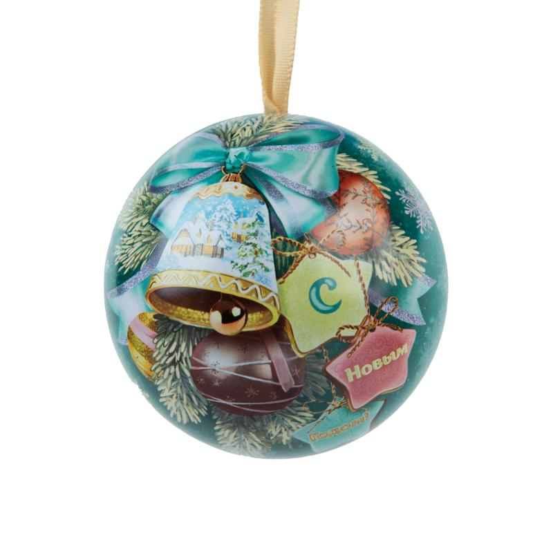 Ёлочное украшение «Шар с новогодним пожеланием внутри» 6.5 см