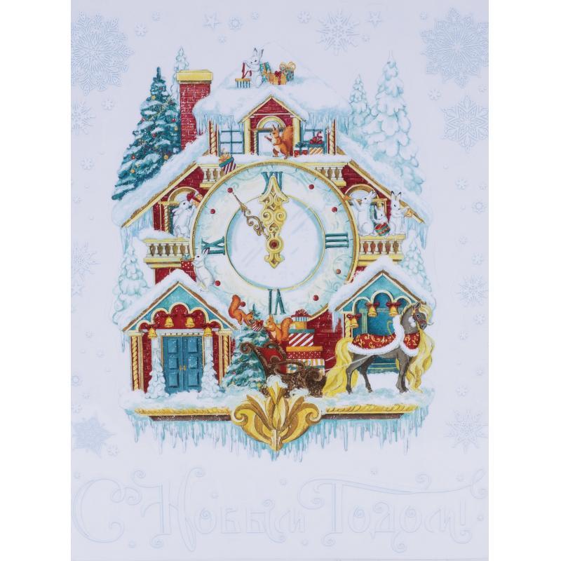 Украшение новогоднее оконное «Зимний терем»