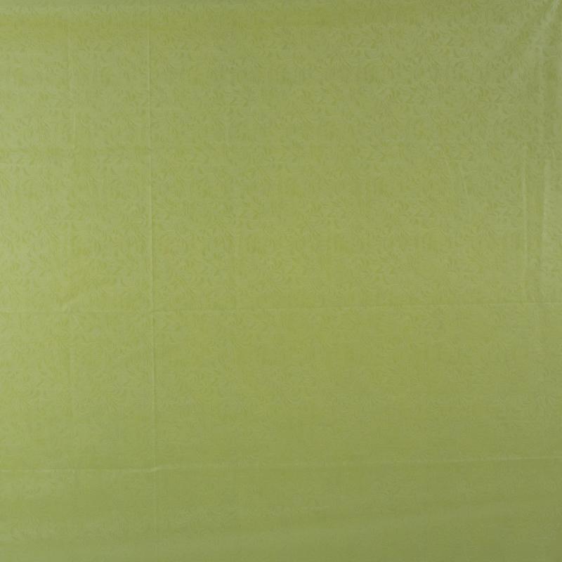Скатерть «Ветка» 220х135 см шёлк цвет фисташковый