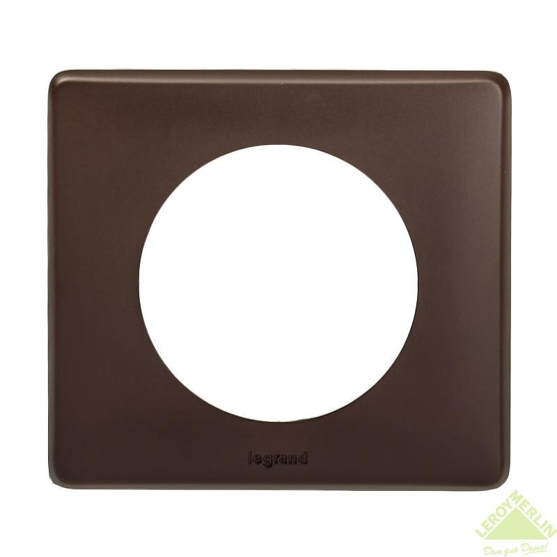 Рамка для розеток и выключателей Celiane, 1 пост, цвет мускат