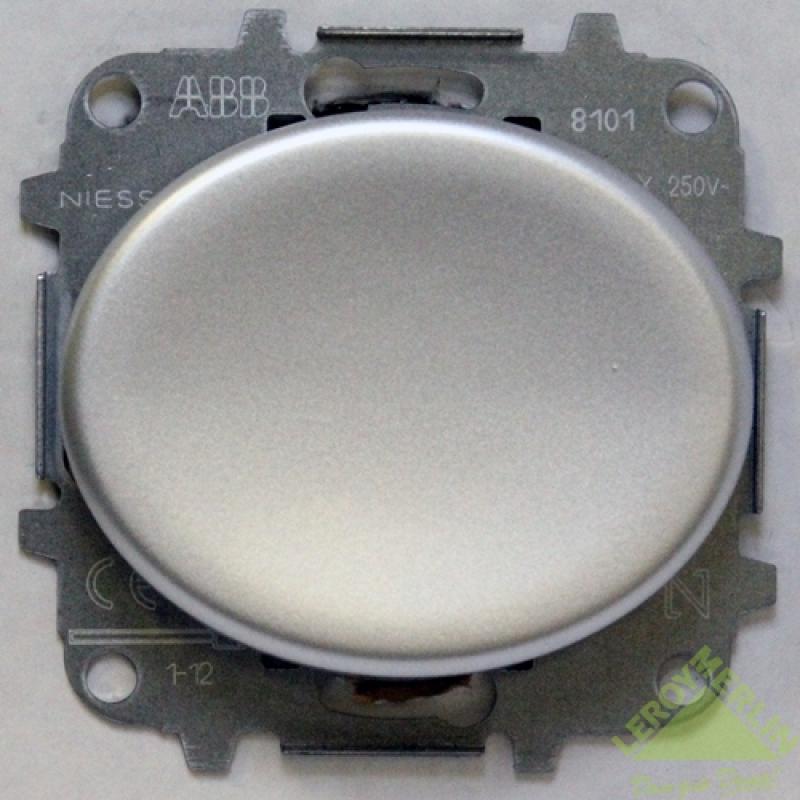Переключатель Tacto 1 клавиша, серебро