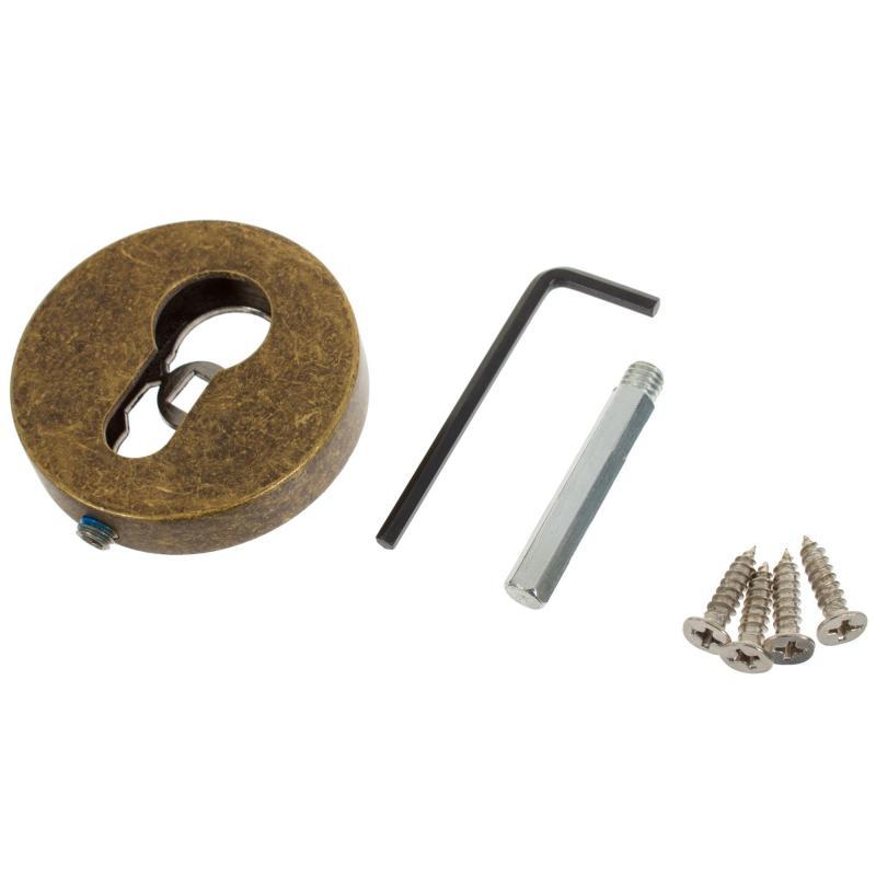 Накладка под цилиндр ET URB/HD OB-13, цвет античная бронза, 2 шт.