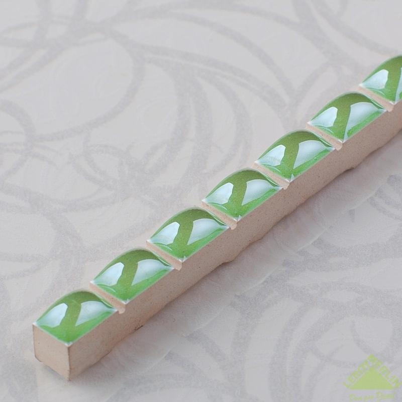 Бордюр «Капсула люстрированная» 0.7х25 см цвет зелёный