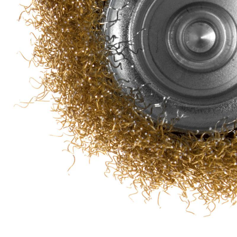 Щетка для дрели чашечная Dexter 75 мм латунная