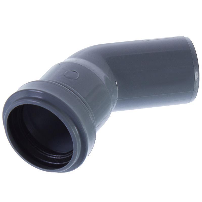 Колено Политрон, 45 градусов, 40 мм, полипропилен