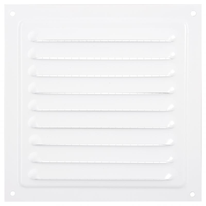 Решетки вентиляционная металлическая Вентс МВМ 150 с 150х150 мм, цвет белый