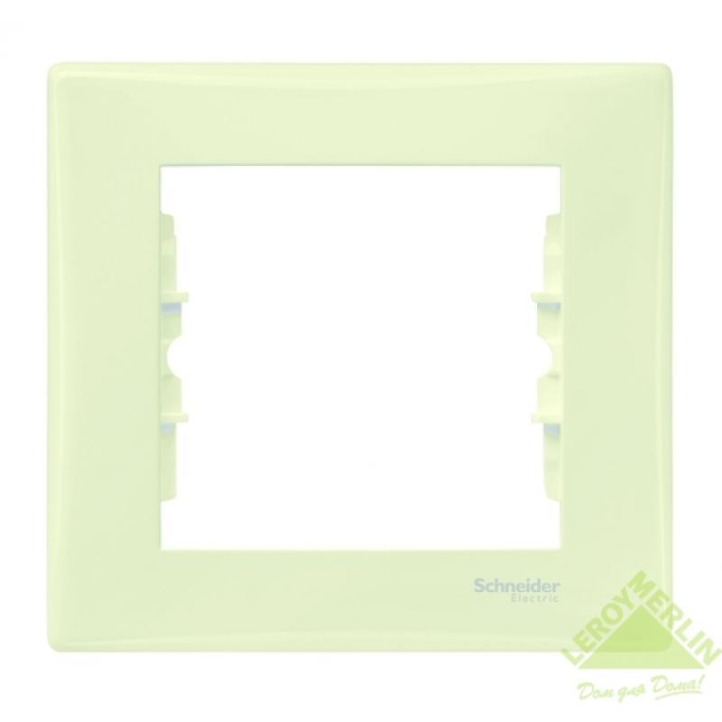 Рамка для розеток и выключателей Sedna, 1 пост, цвет бежевый