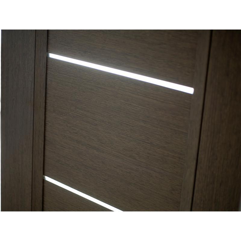 Дверь межкомнатная остеклённая с замком в комплекте Candler 90x200 см цвет чёрный дуб