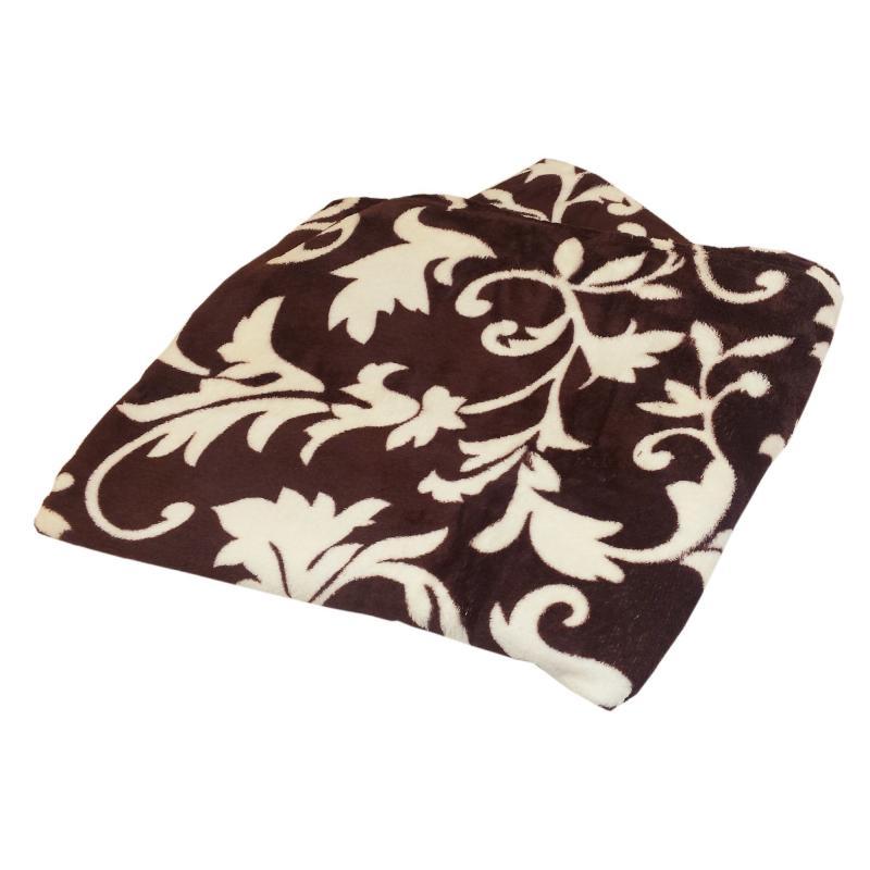 Плед «Barton» 180х200 см микрофибра цвет шоколадный