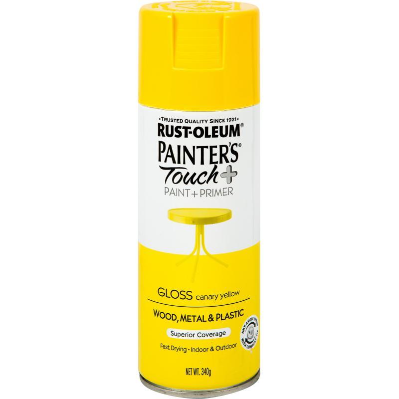 Краска аэрозольная Paint Touch глянцевая цвет жёлтый 340 г