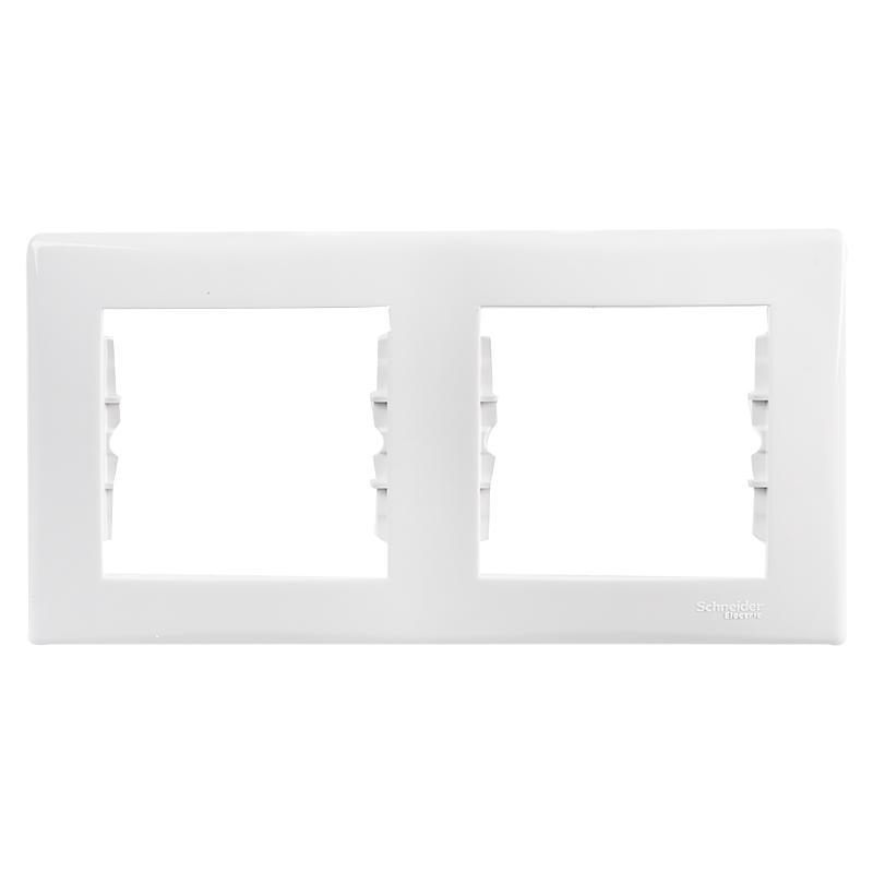 Рамка для розеток и выключателей Sedna, 2 поста, цвет белый