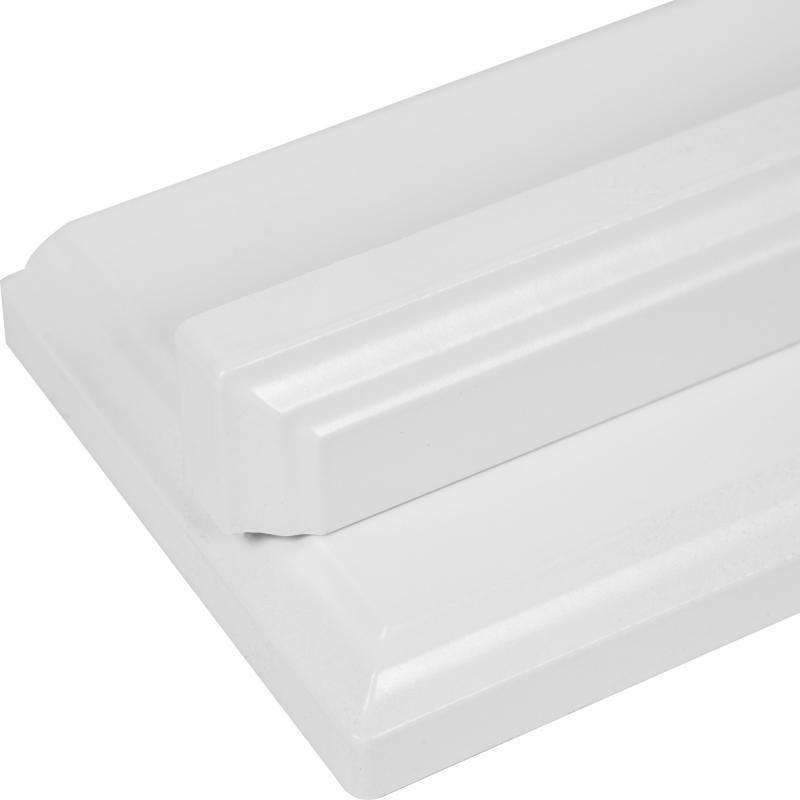 Угол для шкафа Delinia «Леда белая» 4x70 см, МДФ, цвет белый
