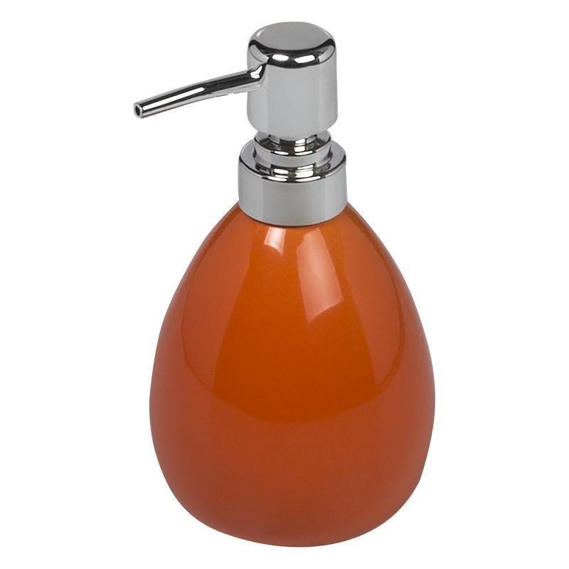 Дозатор для жидкого мыла настольный «Legend» керамика цвет оранжевый