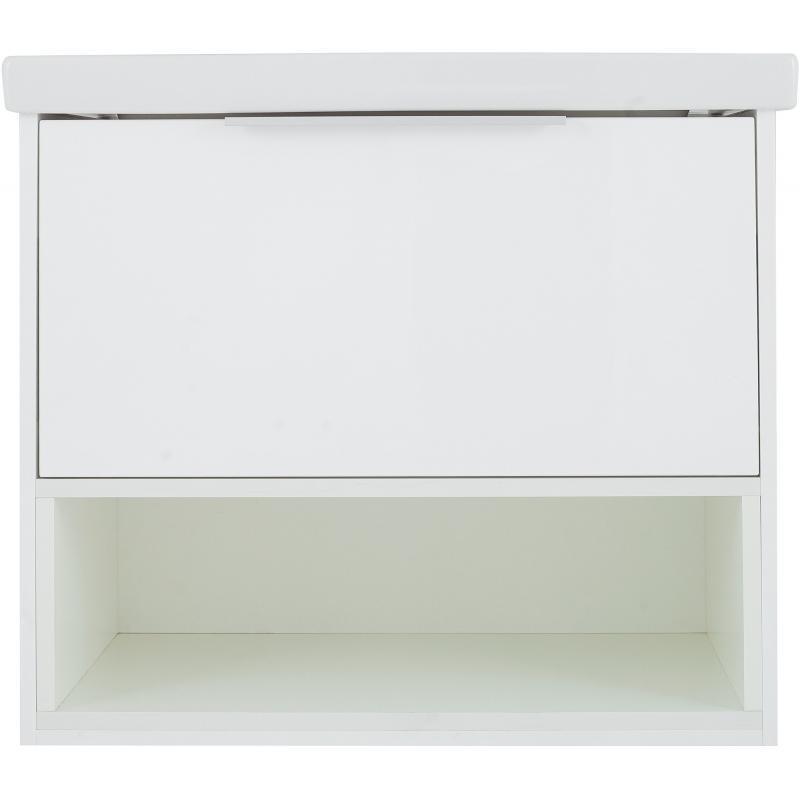Тумба под раковину подвесная «Дана» 70 см цвет белый
