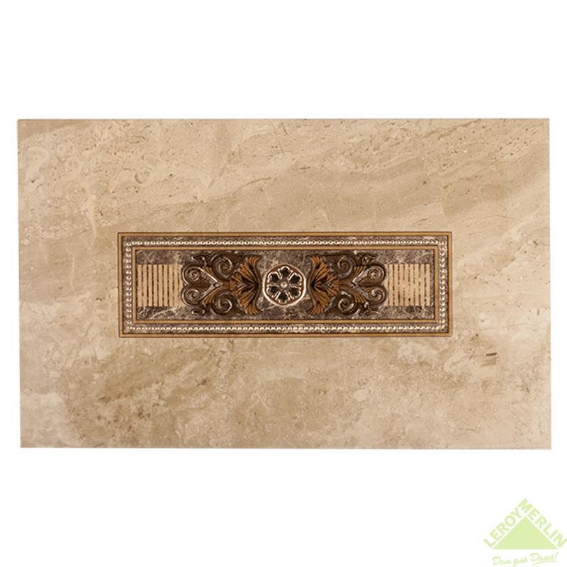 Декор Империал, цвет бежево-коричневый, 40х25 см