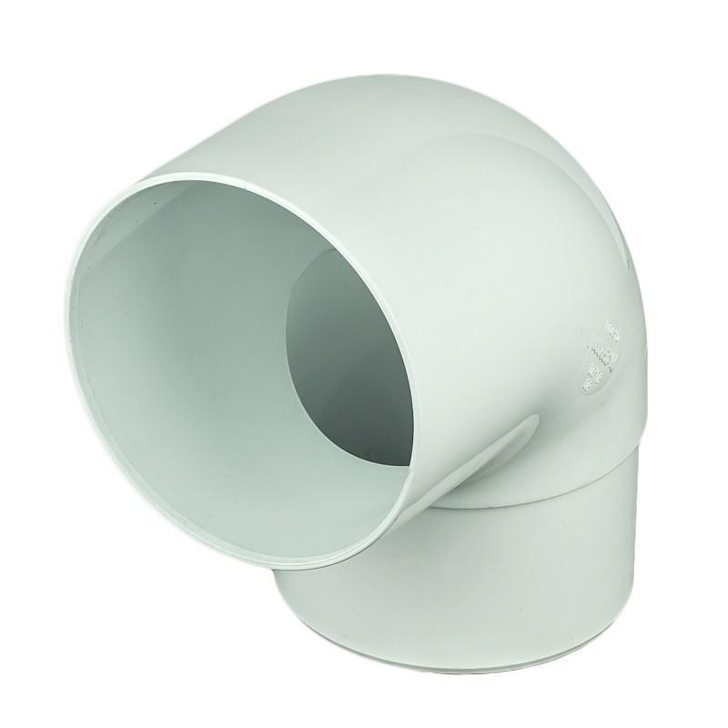 Отвод на 87° для трубы 80 мм цвет белый