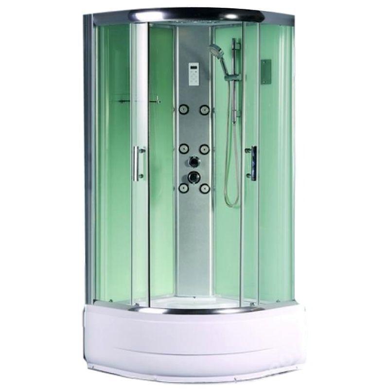 Душевая кабина с гидромассажем Sensea «Альтро» высокий поддон 100х100 см