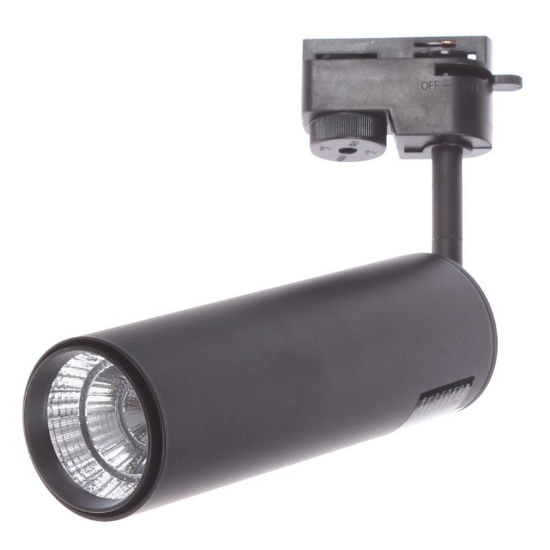 Трековый светильник светодиодный «Periscopio» 12 Вт, 4 м², цвет черный