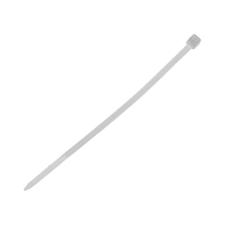 Хомуты кабельные Экопласт 2.5х100 мм цвет белый, 100 шт.