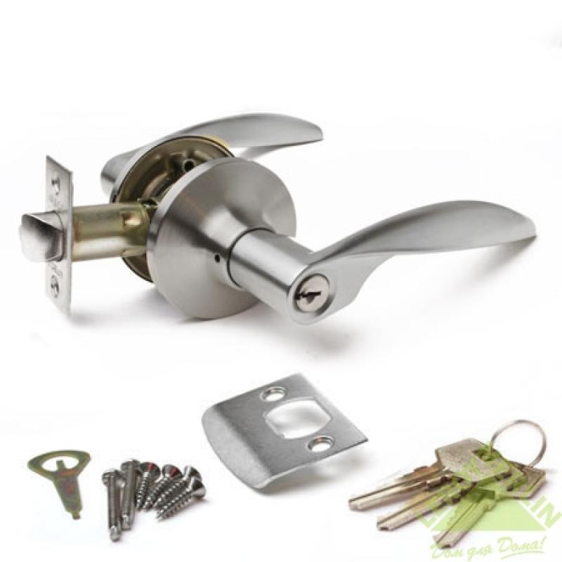 Ручка-защёлка межкомнатная Apecs 8020-01-S (сатин)