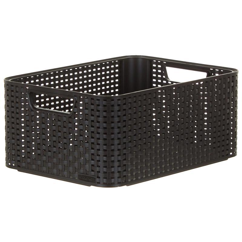 Корзинка Curver Style 38.6x28.7x17 см пластик цвет тёмно-коричневый
