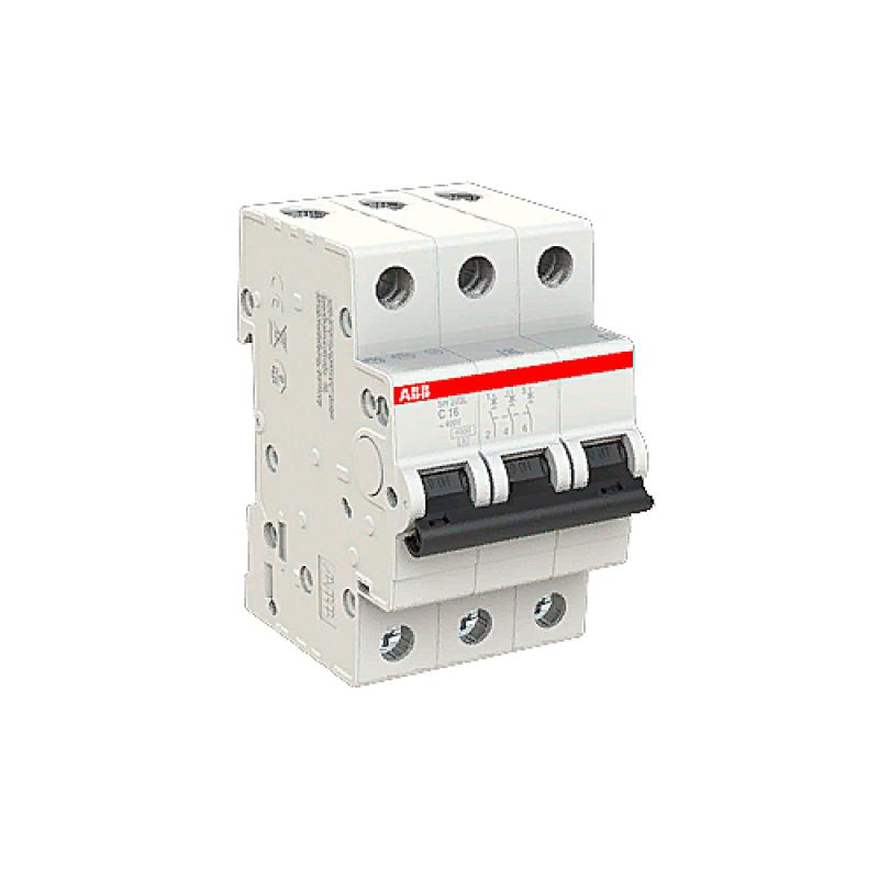 Выключатель автоматический ABB 3 полюса 16 А