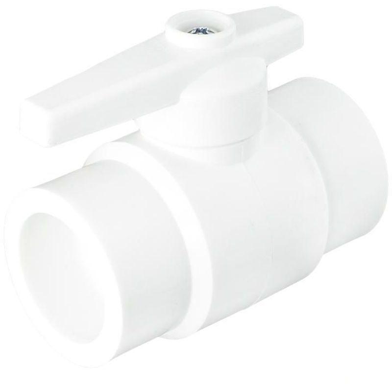 Кран шаровый Ø40 мм стандартный проход, полипропилен