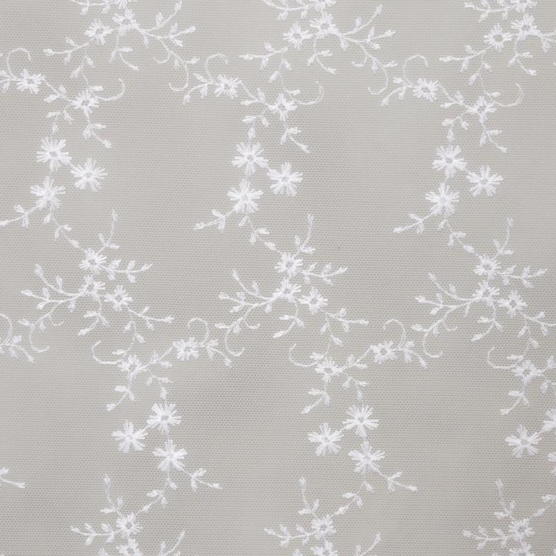 Тюль 1 п/м, вышивка на сетке, 280 см, цвет белый
