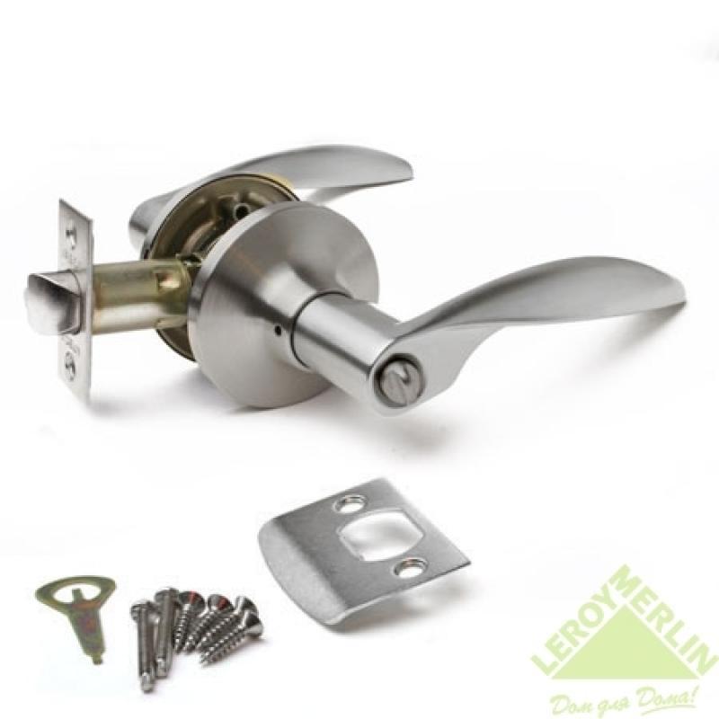 Ручка-защёлка межкомнатная Apecs 8020-03-S (сатин)