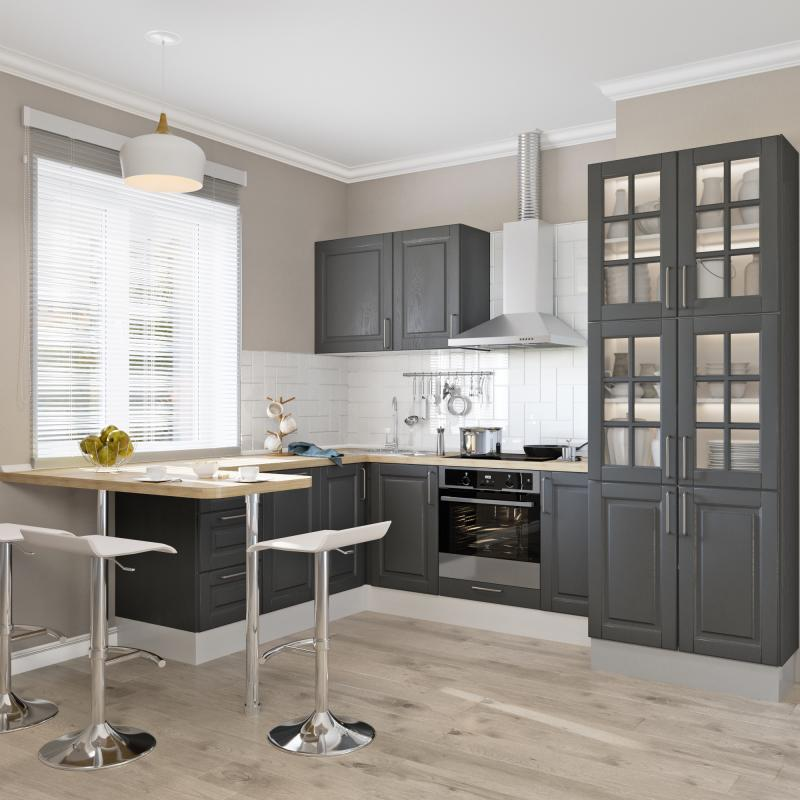 Дверь для шкафа Delinia «Леда серая» 30x92 см, МДФ, цвет серый