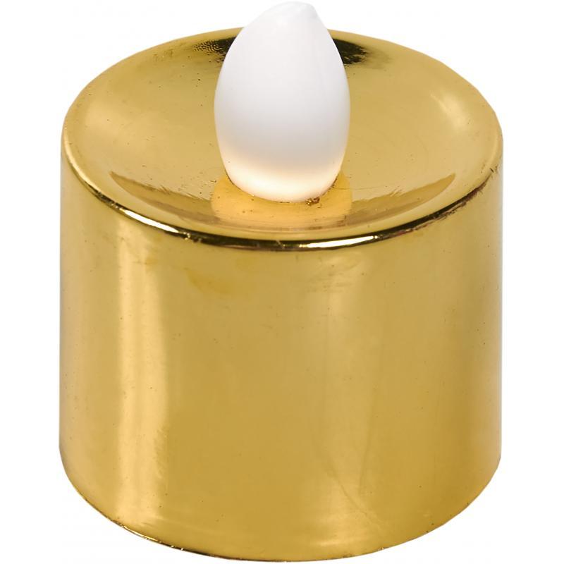 Свеча светодиодная 3.5 см, цвет золотой/серебряный