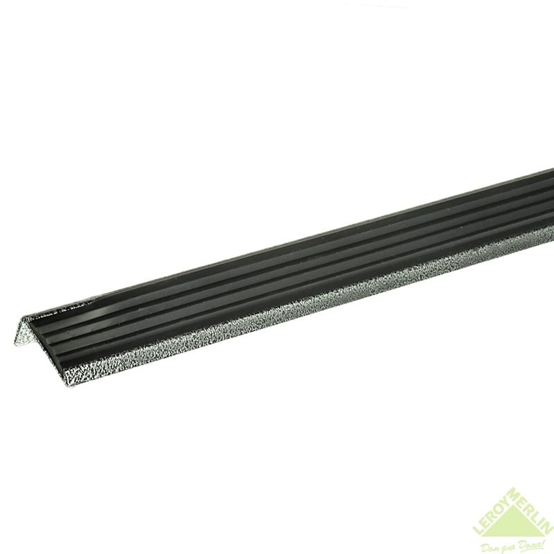 Порог алюминиевый Угол-990 серебро, 1000x37,5 мм