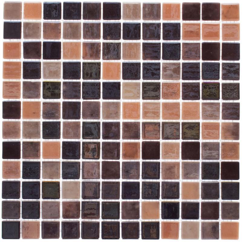 Мозаика Vidrepur № 406, 31.7х31.7 см, стекло, цвет коричневый