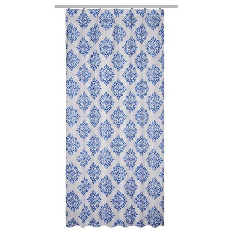 Тюль на ленте «Алания» 300х260 см цвет синий