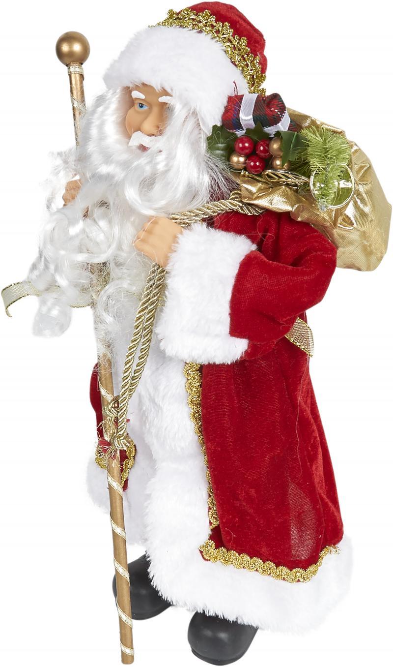 Фигурка «Дед Мороз», 41 см, цвет бордовый